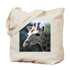 Giraffe Panel Print Tote Bag