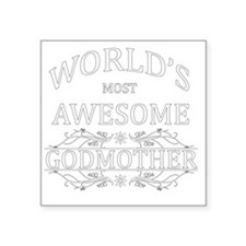 "godmother Square Sticker 3"" x 3"""