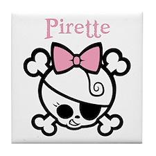 Pirette 1bw Tile Coaster