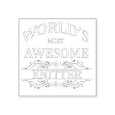 "knitter Square Sticker 3"" x 3"""