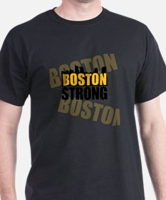 Boston Strong Orange Black T-Shirt