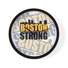 Boston Strong Orange Black Wall Clock