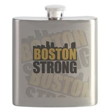 Boston Strong Orange Black Flask