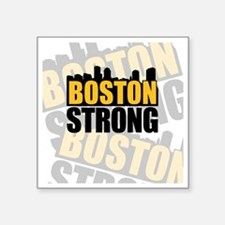 "Boston Strong Orange Black Square Sticker 3"" x 3"""