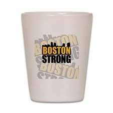 Boston Strong Orange Black Shot Glass