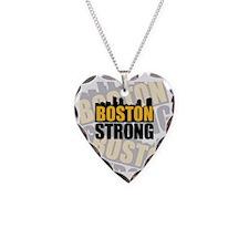 Boston Strong Orange Black Necklace