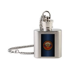 Russia COA (iphone snap) blue Flask Necklace