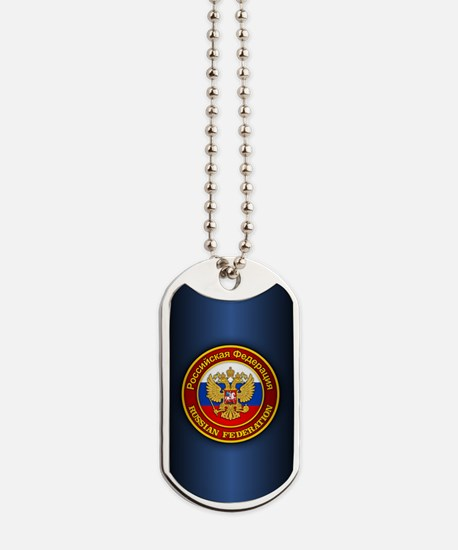 Russia COA (iphone snap) blue Dog Tags