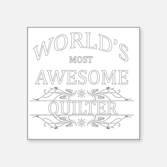 """quilter Square Sticker 3"""" x 3"""""""