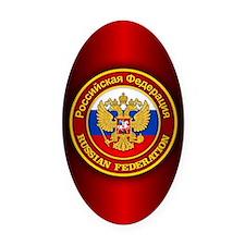Russia COA (iphone 5) Oval Car Magnet