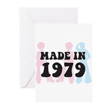 Made In 1979 Greeting Cards (Pk of 10)