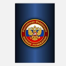 Russia COA (ipad2) blue Postcards (Package of 8)