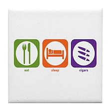 Eat Sleep Cigars Tile Coaster