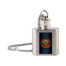 Russia COA (iphone 5) blue Flask Necklace