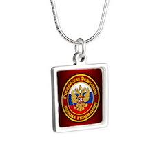 Russia COA (keepsake) Silver Square Necklace