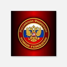 "Russia COA (keepsake) Square Sticker 3"" x 3"""