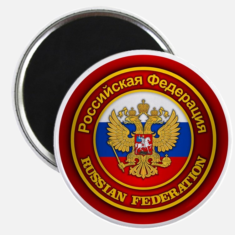 Russia COA (round) Magnet