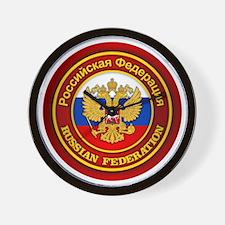 Russia COA (round) Wall Clock