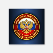 """Russia COA (Mouse Pad) Square Sticker 3"""" x 3"""""""