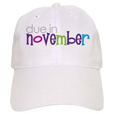due in november Baseball Cap