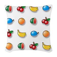 100% Pure Fruit Woven Throw Pillow
