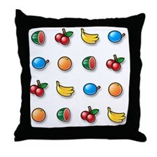 100% Pure Fruit Throw Pillow