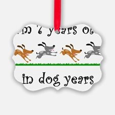 1 dog birthday 1 Ornament