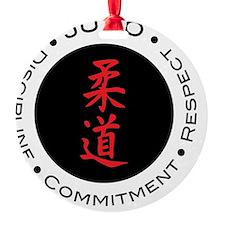 Judo Logo circle Ornament