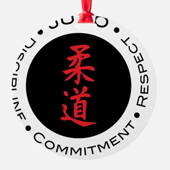 Judo Logo circle Round Ornament