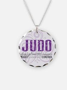 Judo purple scrolls Necklace
