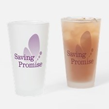Saving Promise Butterfly on White Drinking Glass