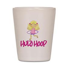 Hula Hoop Girl -Pink- Shot Glass