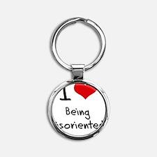 I Love Being Disoriented Round Keychain