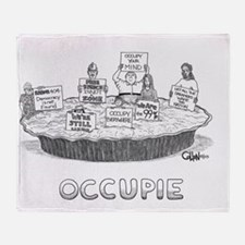 Occupie Throw Blanket