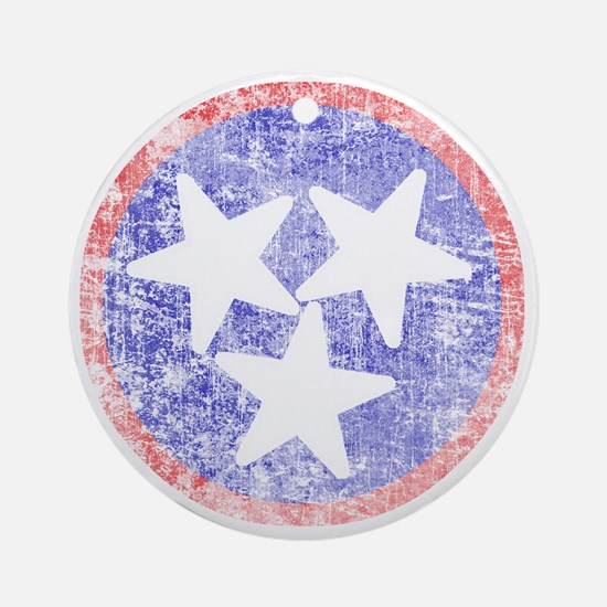 Faded Tennessee American Round Ornament