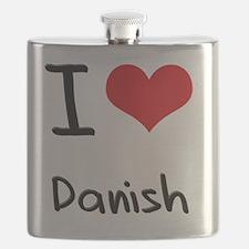 I Love Danish Flask
