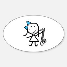 Girl & Bass Clarinet Decal