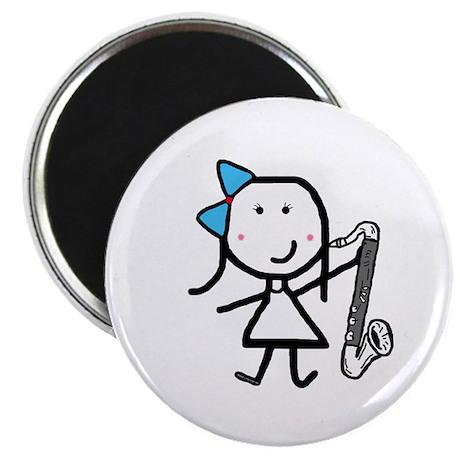 "Girl & Bass Clarinet 2.25"" Magnet (100 pack)"