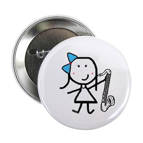 """Girl & Bass Clarinet 2.25"""" Button (10 pack)"""