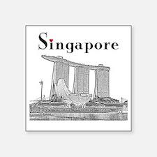 "Singapore_10x10_v2_MarinaBa Square Sticker 3"" x 3"""