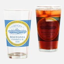 Boston Flag Shower Curtain Drinking Glass