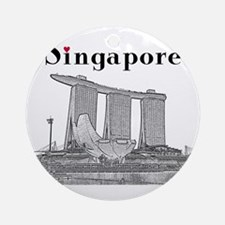 Singapore_10x10_v2_MarinaBaySandsMu Round Ornament