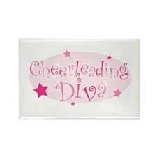 """Cheerleading Diva"" [pink] Rectangle Magnet"
