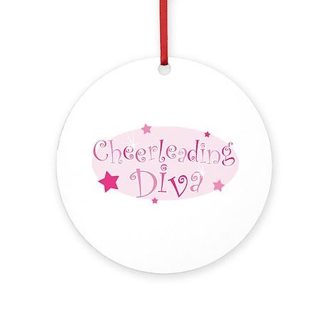"""Cheerleading Diva"" [pink] Ornament (Round)"