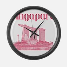 Singapore_12X12_MarinaBaySandsMus Large Wall Clock