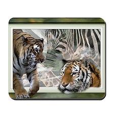 Tigers, Zebra, Giraffe, Wildlife Mousepad