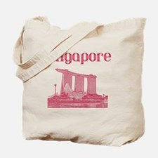 Singapore_12X12_MarinaBaySandsMuseum_Red Tote Bag