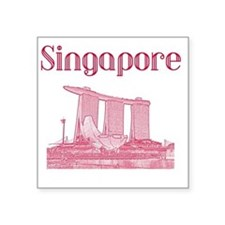 "Singapore_12X12_MarinaBaySa Square Sticker 3"" x 3"""
