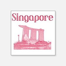 "Singapore_12X12_MarinaBaySa Square Sticker 3"" x 3"""