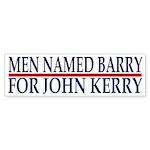 Men Named Barry for John Kerry (sticker)